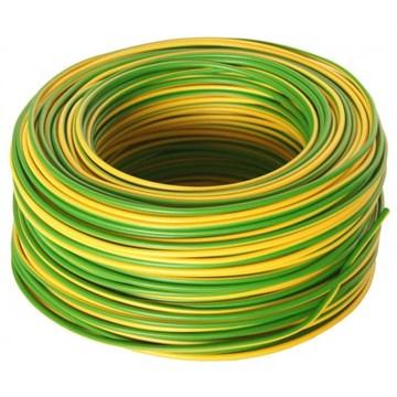 RK-ledning 1,5mm² Gul/Grønn 450/750V