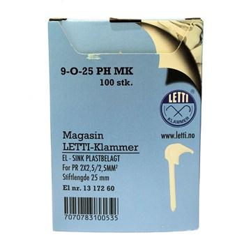 Letti Klammer 9-O-25 PH magasin - 100 stk