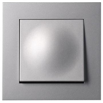 ELKO Plus bryter innfelt 1-pol vekselvender 6/1 Aluminium