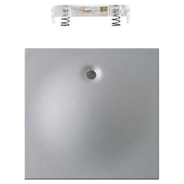 ELKO Plus vippestykke 1-pol med lys Aluminium