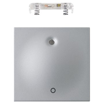 ELKO Plus vippestykke 2-pol med lys Aluminium