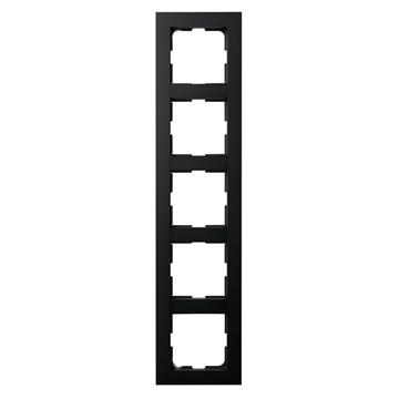 ELKO Plus kombinasjonsplate 5-hull Sort