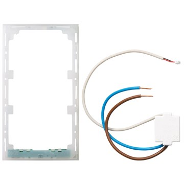 ELKO Plus lysramme m/hvitt lys 2-Hull