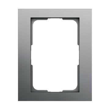 ELKO Plus dobbelstikkramme 1-hull Aluminium