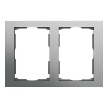 ELKO Plus dobbelstikkramme 2-hull Aluminium