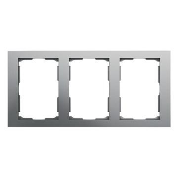ELKO Plus dobbelstikkramme 3-hull Aluminium