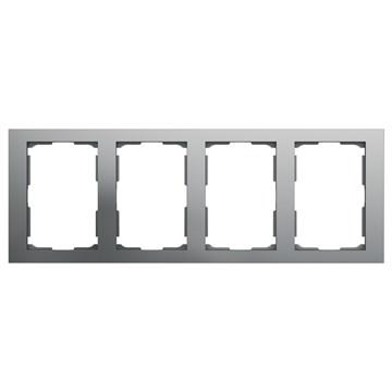 ELKO Plus dobbelstikkramme 4-hull Aluminium