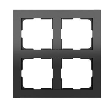 ELKO Plus multiramme 2x2-hull Sort