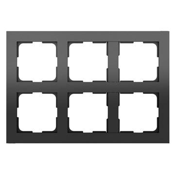 ELKO Plus multiramme 2x3-hull Sort