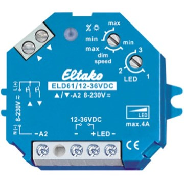 Eltako Impuls dimmer for LED og lav volt, 4A, 12-36V DC