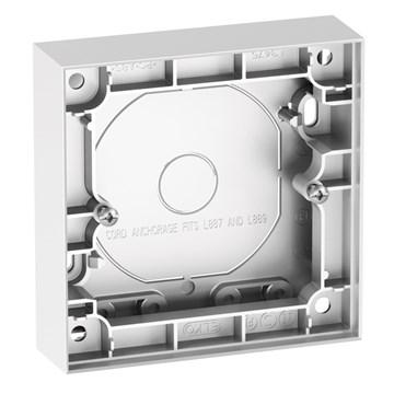 ELKO Plus enkel påveggskappe 25mm Aluminium