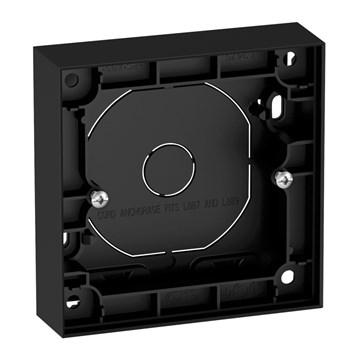ELKO Plus enkel påveggskappe 25mm Sort