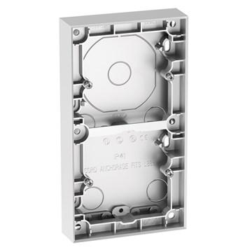ELKO Plus dobbel påveggskappe 25mm Aluminium