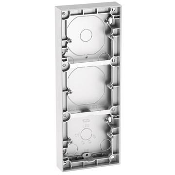 ELKO Plus trippel påveggskappe 25mm Aluminium