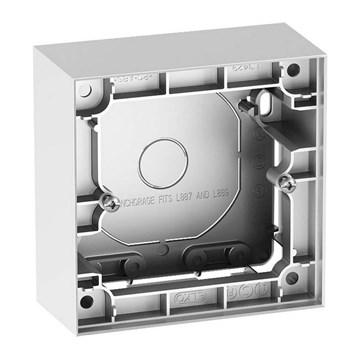 ELKO Plus enkel påveggskappe 40mm Aluminium