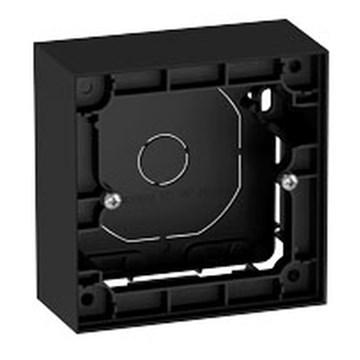 ELKO Plus enkel påveggskappe 40mm Sort