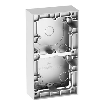 ELKO Plus dobbel påveggskappe 40mm Aluminium