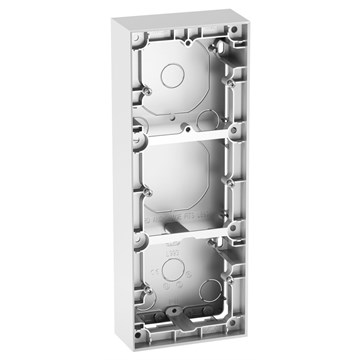 ELKO Plus trippel påveggskappe 40mm Aluminium