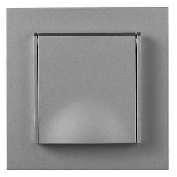 ELKO Plus stikkontakt enkel innfelt m/jord IP44 Aluminium