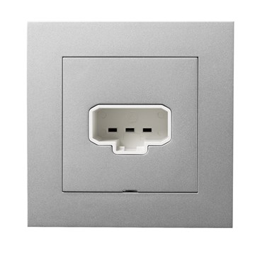 ELKO Plus DCL vegguttak+plugg Aluminium