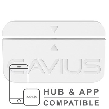Cavius magnetkontakt for dør / vindu - til HUB