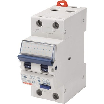 Gewiss Jordfeilautomat 215B 15A 2-pol 2 mod B-karGW95332