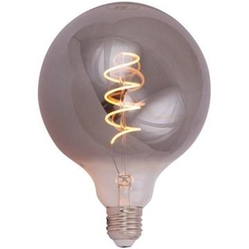 Scanlight LEDlyspære Globe spiral Ø125mm 4W E27 tonet glass dimbar