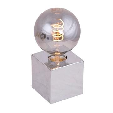Dice bordlampe Krom 10x10cm