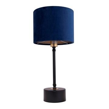 Merida bordlampe 38cm m/blå velour skjerm
