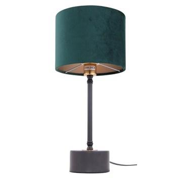 Merida bordlampe Sort 54cm  m/grønn velour skjerm