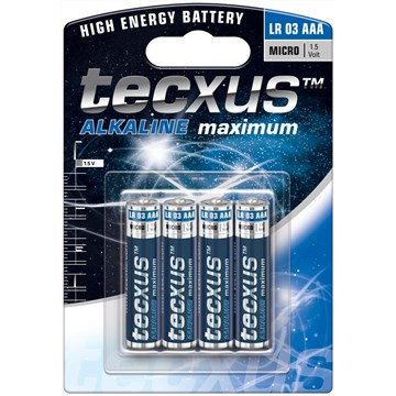 Tecxus alkaline LR03 AAA 4pk