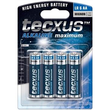Tecxus alkaline LR6 AA 4pk