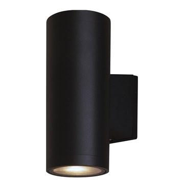 Helio utelampe 2xGU10 IP54 Sort