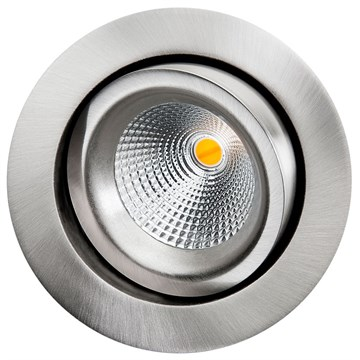 Sg Armaturen gyro downlight  børstet stål 6W Led 2000-2800K dimtowarm