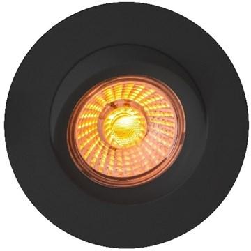 Calida LED downlight 9w dim to warm 360° tiltbar Sort