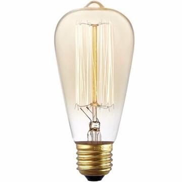 Edison Vintage pære ST64 60W E27 Gold