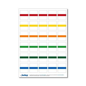 Tekstetiketter til innsatsboks 30 stk. blandet (1 ark)