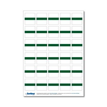 Tekstetiketter til innsatsboks 30 stk. grønn (1 ark)