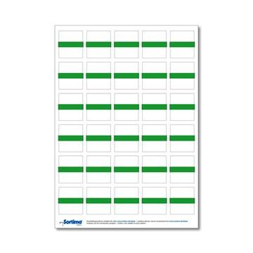 Tekstetiketter til innsatsboks 30 stk. lysegrønn (1 ark)