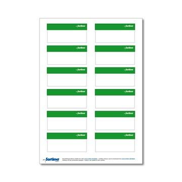 Sortimo tekstetiketter Bred 12stk Lys grønn