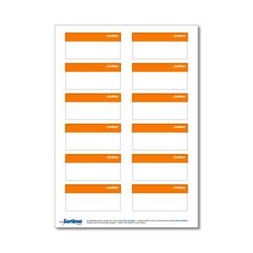 Sortimo tekstetiketter Bred 12stk Oransje
