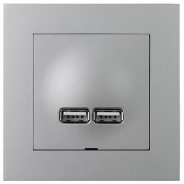ELKO Plus USB-lader 2,1A Aluminium
