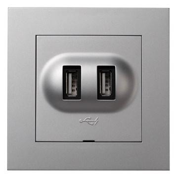 ELKO Plus USB-lader Aluminium