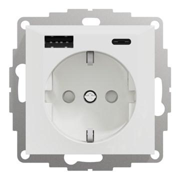 ELKO Plus stikkontakt USB-A+C PH