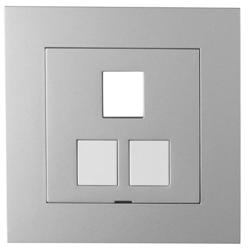 ELKO Plus sentralplate Aluminium 3x Keystone tom