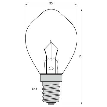 Danlamp båtlampe illum 40W 28V E14 KLAR