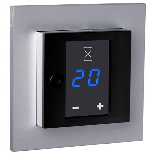 ELKO Plus display tidsbryter 16A Aluminium