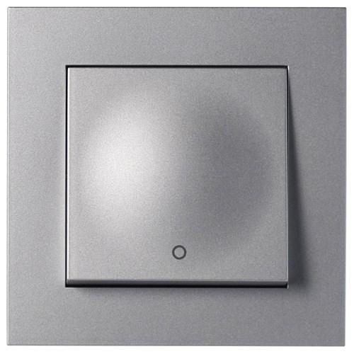 ELKO Plus bryter innfelt 2-pol Aluminium
