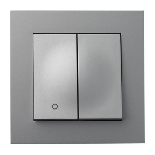 ELKO Plus bryter innfelt 2-1 Aluminium