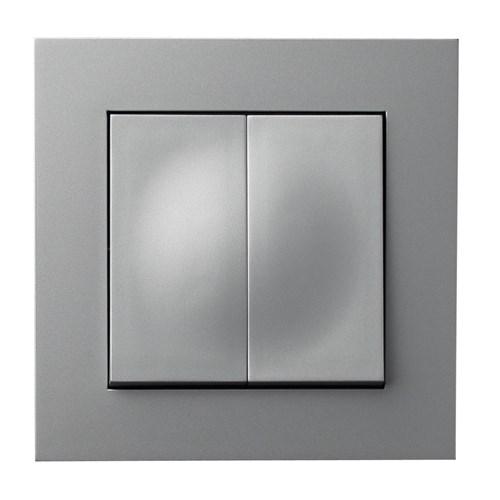 ELKO Plus bryter innfelt serievender 5 Aluminium
